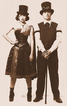 steelboneddiva: Steampunk Couple