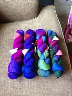 Wollmeise Yarn - WD - True Love, versuch, Pfauenauge (peacock); rav-mrsdrg