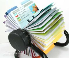 Printed Cards to fit your Rolodex-type organizer for organizing card making or scrapbooking.  Pages for sketches, color combos, embellishment ideas and many many more!  (Jen so wants this!!!)