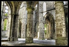 Abandoned - Villers Abbey (abbaye de Villers), an ancient Cistercian abbey located near the town of Villers-la-Ville in the Brabant province of Belgium
