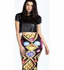 63f681f20 boohoo Gem Print Scuba Midi Skirt - black azz16770 Beat the winter blues  with bodycon skirts