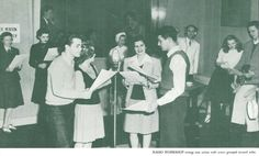 Speech students participating in KOAC radio broadcast.  From the 1943 Oregana (University of Oregon yearbook).  www.CampusAttic.com
