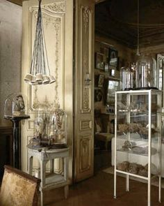 what a wonderful place. French Bed, French Cottage, World Of Interiors, French Interiors, Bookcase Styling, Cabinet Of Curiosities, French Architecture, Vox Populi, Vintage Market