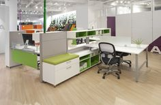 The Harbor BLOG - Flexible, upscale components create open plan desking and benching solutions, as well as private office environments.