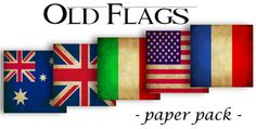 WORLD FLAGS - usa,italy,uk,aus,france -Digital Paper Pack -Instant Download Digital Printable Papers 12 X 12