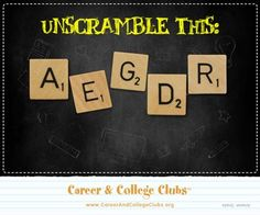 Can you unscramble this word?    Check out our innovative program @