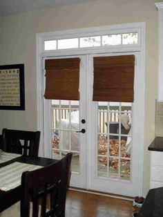 Bamboo Blinds French Doors - One of installing these internal doorways in virtually any home of the apparent benefits is th Blinds For French Doors, French Door Curtains, French Doors Patio, Blinds For Windows, Windows And Doors, South Carolina Homes, Bamboo Blinds, Back Doors, New Kitchen