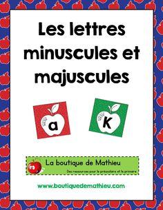 lettrespommes-page-001 Alphabet, Voici, Conscience, Lower Case Letters, Letters, Apples, Beginning Sounds, Alpha Bet