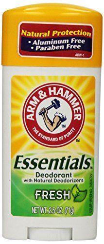 Arm & Hammer Essentials Natural Deodorant, Fresh, 2.5 oz. Arm & Hammer http://www.amazon.com/dp/B001CI6RQK/ref=cm sw r pi dp F4R0ub0Z2KQ2H