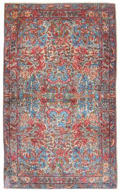 Other Antique Formal Rugs Gallery: Antique Kerman Rug, Hand-knotted in Persia; size: 3 feet 0 inch(es) x 4 feet 10 inch(es)