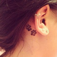 Paw tattoo I want to get for my #dog. #tattoo #ear #idea #good?