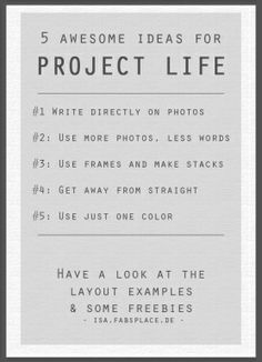 PL Ideas 11 Project Life Ideas #1 for Inspiration