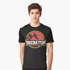 """Jurassic Triceratops Diosaur skelleton black background"" T-shirt by helgema Spartan Warrior, Shirt Shop, Black Backgrounds, Tshirt Colors, Cool T Shirts, Female Models, Chiffon Tops, V Neck T Shirt, Classic T Shirts"