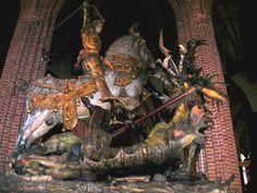 San Jorge y el dragón, escultura de Bernt Notke en Estocolmo