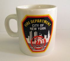 NYC Fire Department espresso cup/mug $11.99 on ebay!  http://stores.ebay.com/NYC-Fitness-Family-and-Finds?_rdc=1