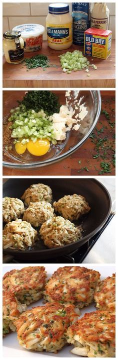 Maryland Crab Cakes-1 large egg 2½ tablespoons mayonnaise 1½ teaspoons Dijon mustard 1 teaspoon Worcestershire sauce 1 teaspoon Old Bay seasoning ¼ teaspoon salt ¼ cup finely diced celery (you'll need one stalk) 2 tablespoons finely chopped fresh parsley 1 pound lump crab meat* ½ cup panko ( Canola oil