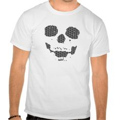 [ SKULL Shadow / BK / Men's T-Shirts ] Skull is printed. Design color: Black #skull #shadow #typing #mens #simple #cool #rock #vector #graphic #tsharts #followme