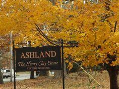 The Henry Clay estate in fall color, Lexington Kentucky