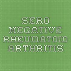 sero-negative rheumatoid arthritis