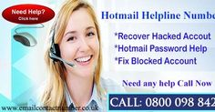 But rather than its features it also leads to some problems and stops your email account from working. In that case you face many trouble and you are frustrating too. So, you don't get worried about this. Hotmail helpline number provides you an easy way and instructions that helps you in fixing your hotmail problems.