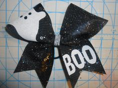 Cheer bow HALLOWEEN Ghost BOO Sequin Glitter by blingitoncheerbowz by BlingItOnCheerBowz on Etsy https://www.etsy.com/listing/249787512/cheer-bow-halloween-ghost-boo-sequin