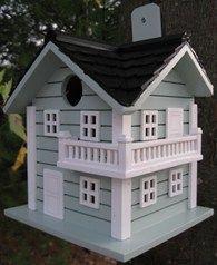 Surf City Beach House Bird Box Nesting House Blue