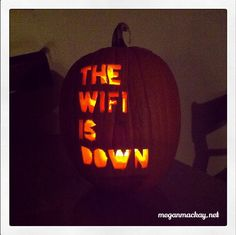 Quite possibly the scariest pumpkin carving EVER.   (found from http://meganmackay.net/tagged/haha)