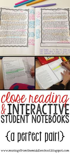 Interactive Student Notebooks and Close Reading... A Perfect Pair!