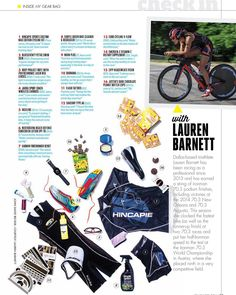 We are stoked to be included in our athlete @laurenbarnettracing's gear bag in @triathletemag!