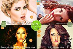 6 IN 1-Oil Paint Bundle V.4 -60% OFF by Vatdesign on Creative Market