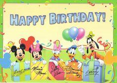 Iiiii Happy Birthday Baby Love Disney Wishes
