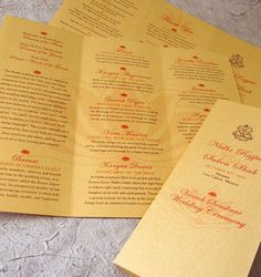 30 Wedding Program Design ideas to guide your party guest