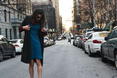 Streetstyle wearing all vintage on the streets of NYC / blogger PrettyProperQuaint