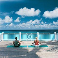 Yoga en el hotel One and Only Ocean Club, #Bahamas #NoLoHasVistoTodo