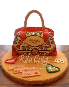 prada purse cakes   Prada Hand Bag Cake