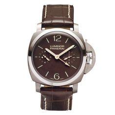 Luminor 1950 Brown Dial GMT Mechanical Men's Watch