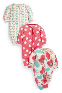Bright Printed Sleepsuits Three Pack 12-18 months