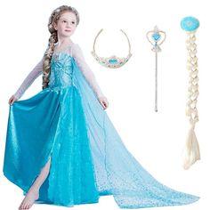 2020 Girls Dresses Elsa Dress Princess Movie Cosplay Party Dress Vestidos fantasia Anna Elsa Costumes For Children Kids Clothes Blue Party Dress, Fancy Dress, Dresses Kids Girl, Girl Outfits, Frozen Elsa Dress, Princess Movies, Cinderella Dresses, Birthday Dresses, Princesas Disney