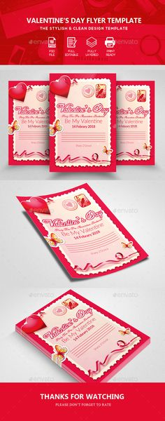 Buy Valentine Event Flyer Templates by Business_Flyers on GraphicRiver. Free Flyer Templates, Event Flyer Templates, Print Templates, Valentines Day Gifts For Him, Be My Valentine, Valentine Poster, Valentine Background, Flyer Printing, Love Posters