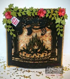 Create a Card Christmas dies 2015 - Crafter's Companion Portfolio Christmas Paper Crafts, Christmas Cards To Make, Christmas Makes, Xmas Cards, Christmas Projects, Holiday Cards, Christmas Lodge, Christmas Fireplace, Christmas Scenes