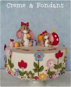 Happy easter celebration cake. - Cake by Creme & Fondant