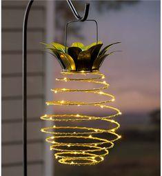Hanging Solar Lantern Decoration, Pineapple | Solar Accents