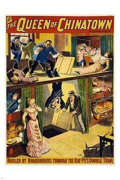 THE QUEEN OF CHINATOWN Joseph Jarrow VINTAGE Broadway Poster 1899 24X36 HOT