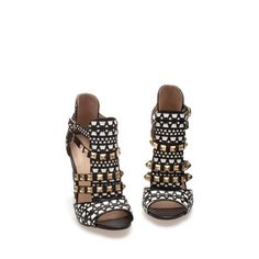 STUDDED SANDALS - Heeled sandals - Shoes - Woman   ZARA United States