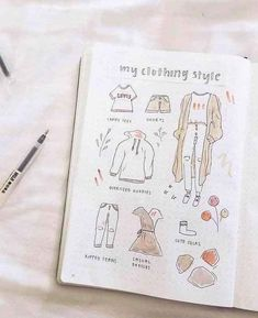40 Easy Things to Draw for Your Bullet Journal - - Things to Draw – Clothing Doodle // Bullet journal doodles, bullet journal ideas, bullet journal drawing ideas Source by shihoriobata Creating A Bullet Journal, Bullet Journal Aesthetic, Bullet Journal Notebook, Bullet Journal Spread, Bullet Journal Layout, Bullet Journal Inspiration, Book Journal, Journal Ideas, Bullet Journal Workout