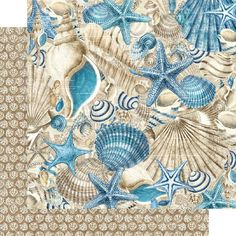 8 Sheets Graphic 45 Ocean Blue 12x12 Paper Collection 8 | Etsy Graphic 45, Mixed Media Scrapbooking, Blue Beach, Cozumel, Kauai, Marine Life, Paper Design, Pattern Paper, Scrapbook Paper