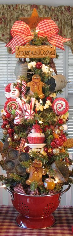 Love the bowl it is in Run, run as fast as you can. You can't catch the Gingerbread Man! - Prim Gingerbread Men & Sweets Kitchen Tree
