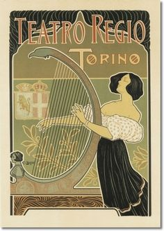 Posters - G. Boano - Royal Theatre Turin 1898 - Canvas Poster Print Size 14 x 20 Painting