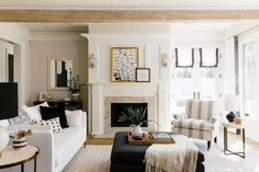 Chic Neutral Living Room - Havenly Founder Jessie Dixon Family Friendly Home Tour. Chic Neutral Living Room - Havenly Founder Jessie Dixon Family Friendly Home Tour. Family Friendly Living Room, Farm House Living Room, Small Apartment Decorating Living Room, Home Decor, Apartment Decor, Havenly Living Room, Neutral Living Room, Living Decor, Country Living Room