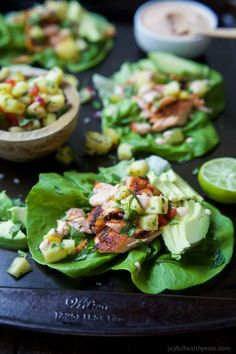 The perfect healthy twist on the original fish tacos! These Southwestern Grilled Salmon Tacos are bursting with flavor and topped with fresh pineapple salsa and a Chipotle Lime Crema! Quick Easy Dinner, Quick Dinner Recipes, Easy Healthy Dinners, Easy Healthy Recipes, Quick Easy Meals, It's Easy, Summer Recipes, Healthy Foods, Healthy Eating
